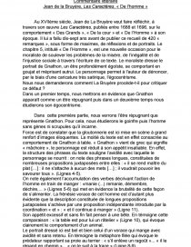 Les Caractères La Bruyère Texte : caractères, bruyère, texte, Commentaire, Littéraire, (Jean, Bruyère,, Caractères,, L'homme), Texte, Raphael, JEANJEAN