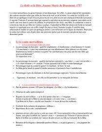La Belle Et La Bête Fiche De Lecture : belle, bête, fiche, lecture, Belle, Bête-, Jeanne-Marie, Beaumont, Commentaire, Texte