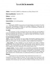 Le Cri De La Mouette Resume : mouette, resume, Mouette, Emmanuelle, LABORIT, Collaboration, Marie-Thérèse, Fiche, Lecture, Sabine, Tellier