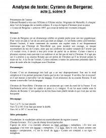 Cyrano De Bergerac Résumé Par Acte : cyrano, bergerac, résumé, Cyrano, Bergerac,, Scène, Analyse, Edmond, Rostand, Commentaire, Texte, Loulou2206