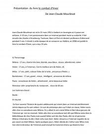 Le Combat D Hiver Résumé : combat, hiver, résumé, Combat, D'Hiver, Jean-Claude, Mourlevat,, Fiche, Lecture, Gabb21120
