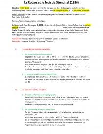 Le Rouge Et Le Noir Fiche De Lecture : rouge, fiche, lecture, Stendhal,, Rouge, Noir,, Commentaire, Texte, Mylène, Heitz