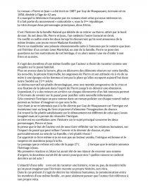 Pierre Et Jean Controle De Lecture Seconde : pierre, controle, lecture, seconde, Fiche, Lecture, Pierre, Maupassant, François-Louis, Roussel