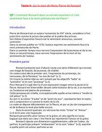 Sur La Mort De Marie : marie, Marie,, Pierre, Ronsard, Commentaire, Texte, NelyG