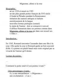 Mignonne Allons Voir Si La Rose Pdf : mignonne, allons, Texte, Pierre, Ronsard, Mignonne,, Allons, Fiche, Mr_lurey