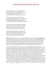 L'homme Et La Mer Analyse : l'homme, analyse, L'Homme, Baudelaire, Commentaire, D'arrêt, Loan33