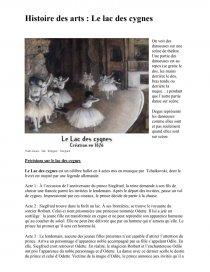 Histoire Le Lac Des Cygnes : histoire, cygnes, Cygnes, Cours, Virginie