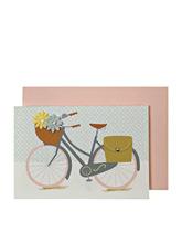 kartka rower i kwiaty