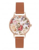 kwiatowy zegarek