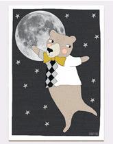 plakat Księżyc i Miś