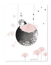 księżyc z dziewczynką