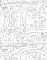 Okleina na meble Miasto Malowane Ołówkiem
