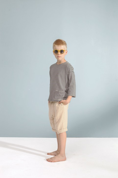 striped top_sand shorts
