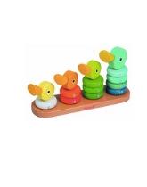 Drewniana rodzina kaczek
