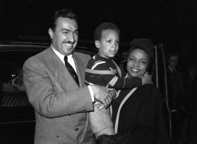 Hazel Scott and Adam Clayton Powell and son