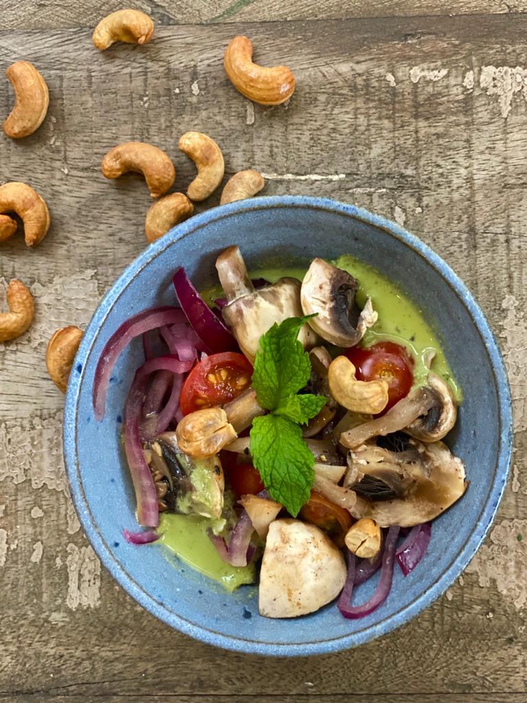 Ceviche vegano é uma das criações da chef Natalia Luglio (Divulgação)