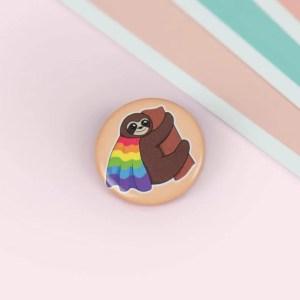 Button Gay Pride, Pin, Anstecker