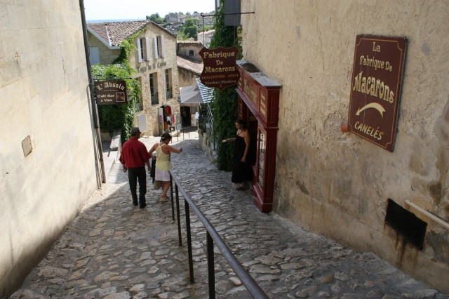 First trip to St Emilion Streets
