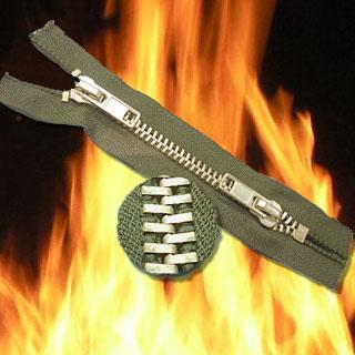 Fire Retardant Zippers