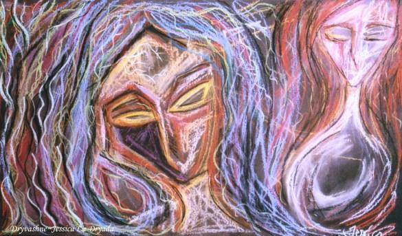 ~ Dryvashne ~Pastel sur papier ~ 40/60cm ~