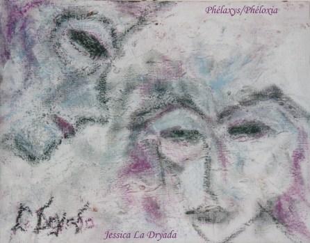 ~ Phélaxys/Phéloxia ~Pastel , pastel gras et acrylique sur toile 21/27cm ~ 2008-2009 ~