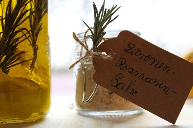 Zitronen-Rosmarin-Salz selber machen