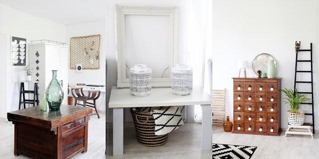 Vorher Bilder zum Thema Styling mit Orchideen zeigt Wohnzimmer ohne Orchideen