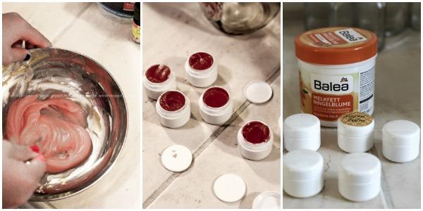 Wellness für Zuhause oder eine Mädels-Party im Spa-Tempel, selbstgemachter Lippenbalm und DIY Zitronen-Peeling, Anleitung Lippenbalm