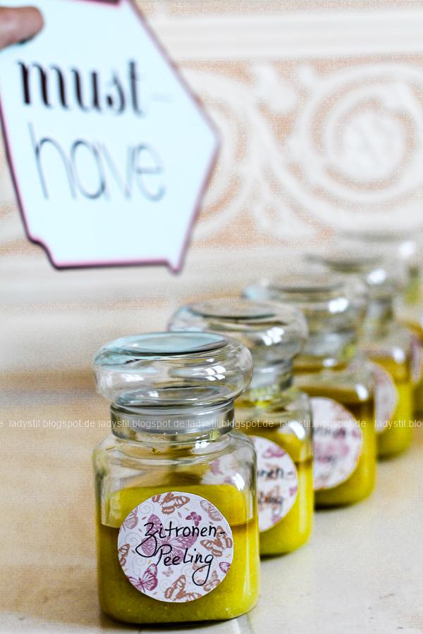 Wellness für Zuhause oder eine Mädels-Party im Spa-Tempel, selbstgemachter Lippenbalm und DIY Zitronen-Peeling