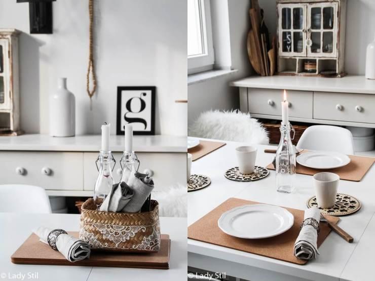 Tischdekoration im Alltag