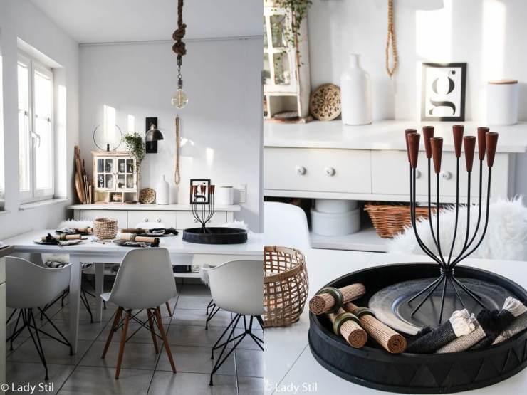 der neue tischdekoration im alltag diy platzdeckchen. Black Bedroom Furniture Sets. Home Design Ideas