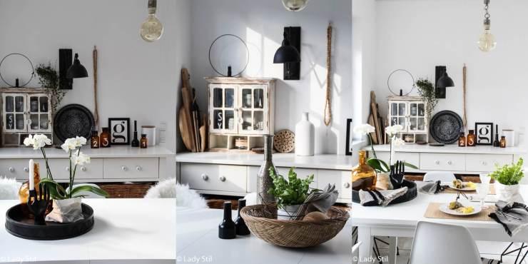 Tischdekoration im Alltag Tipp Pflanzen
