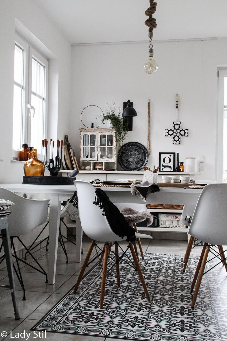 Die Küche mausert sich - Vinylteppich Beija Flor - lady-stil.de