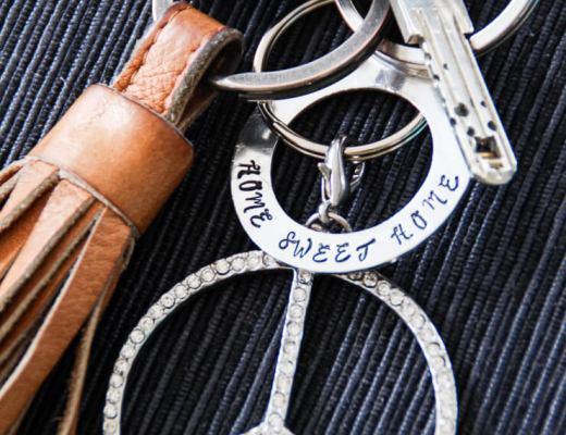 DIY Schlüsselanhänger bestempeln