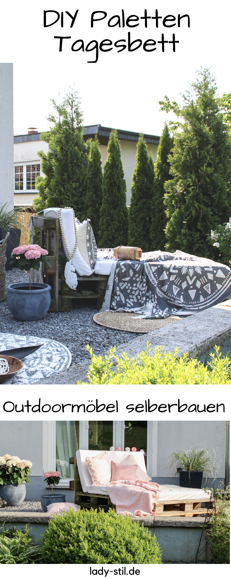 DIY Paletten Tagesbett