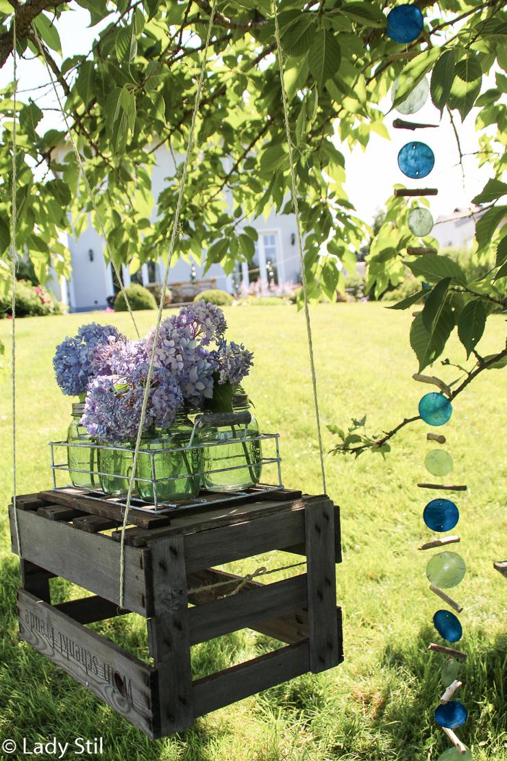 DIY Hängetisch Blumenschaukel