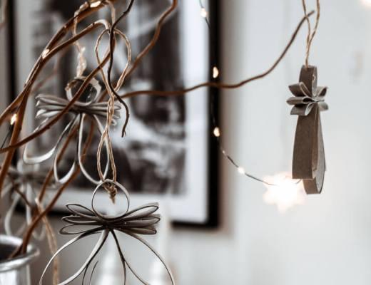 DIY Engel Baumschmuck aus Klopapierrollen
