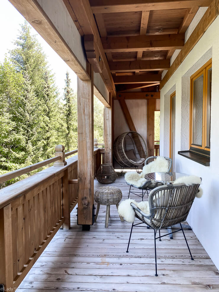 Familienhotel Oberforsthof Zimmer Balkon Einrichtung