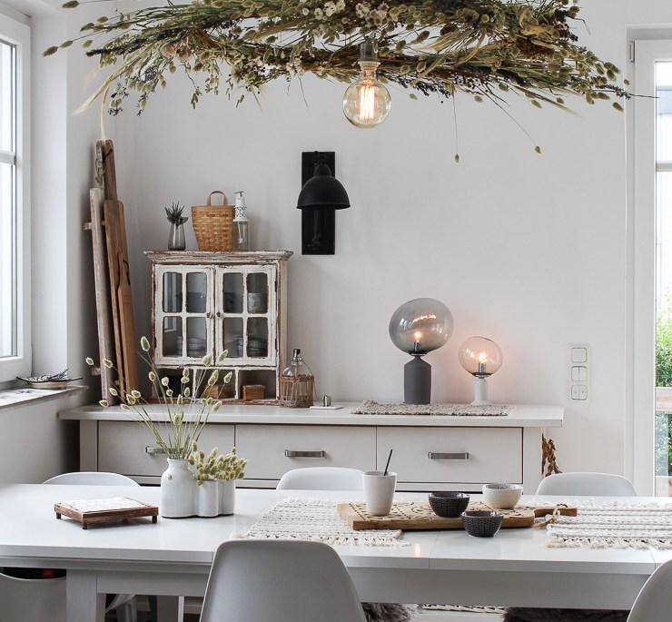 DIY Trockenblumen Kranz hängend