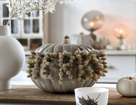 Herbstdeko Kürbis mit Schriftzug