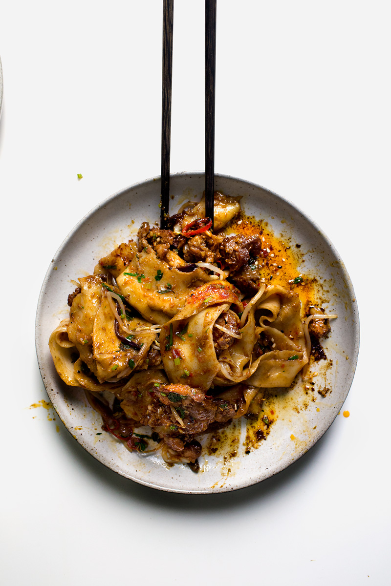 Lady And Pups My Xian Famous Spicy Cumin Lamb Hand Smashed Noodles