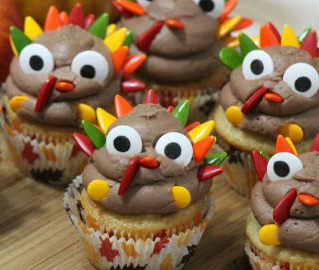 Turkey Cupcakes Fun Thanksgiving Treat For Kids