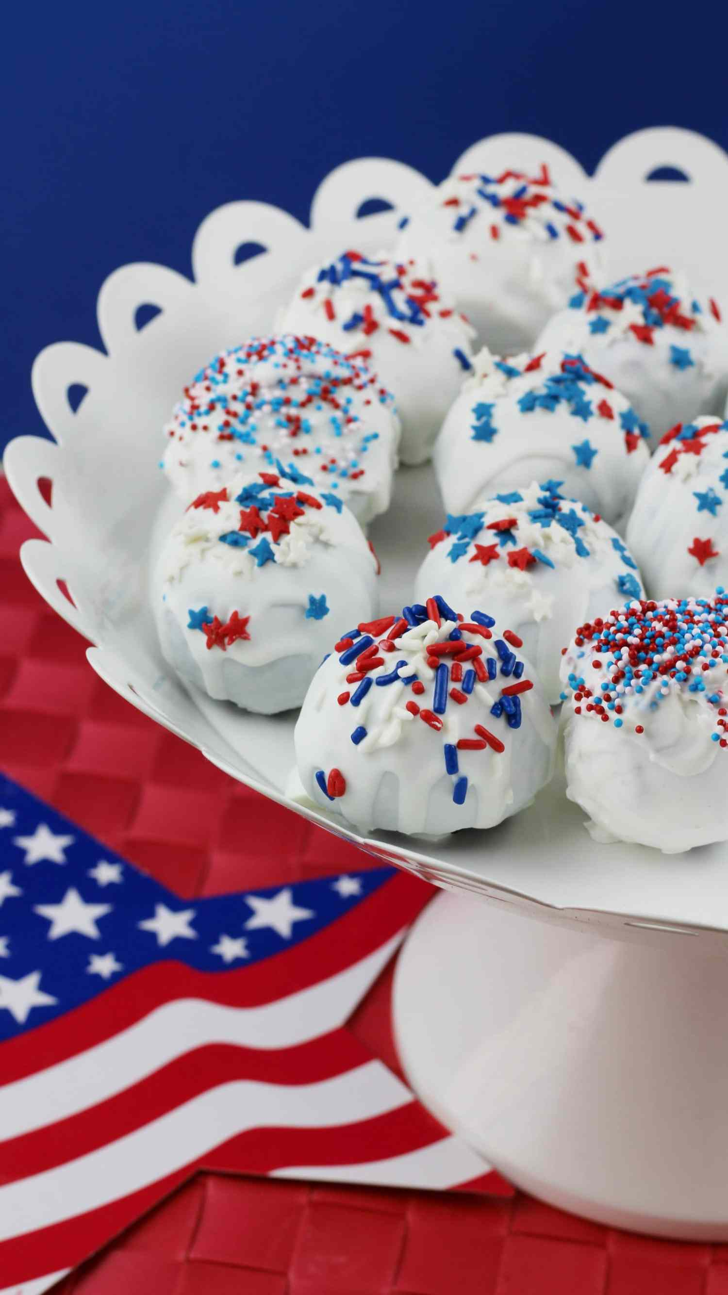 Red White Blue Oreo Truffles