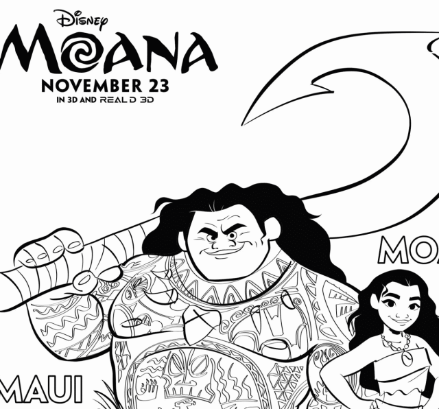 Free Moana Coloring Pages Inspired By The Disney Movie
