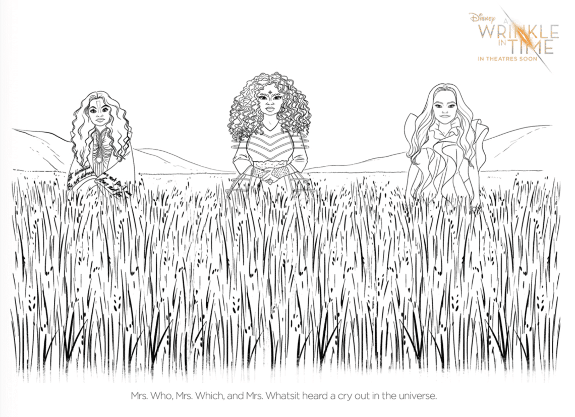 Wrinkle In Time Coloring Pages: Free Disney Downloads