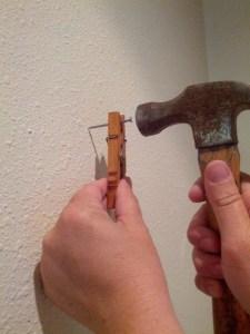 Nail Holder Clothespin