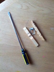 materials for assembly of clothespin