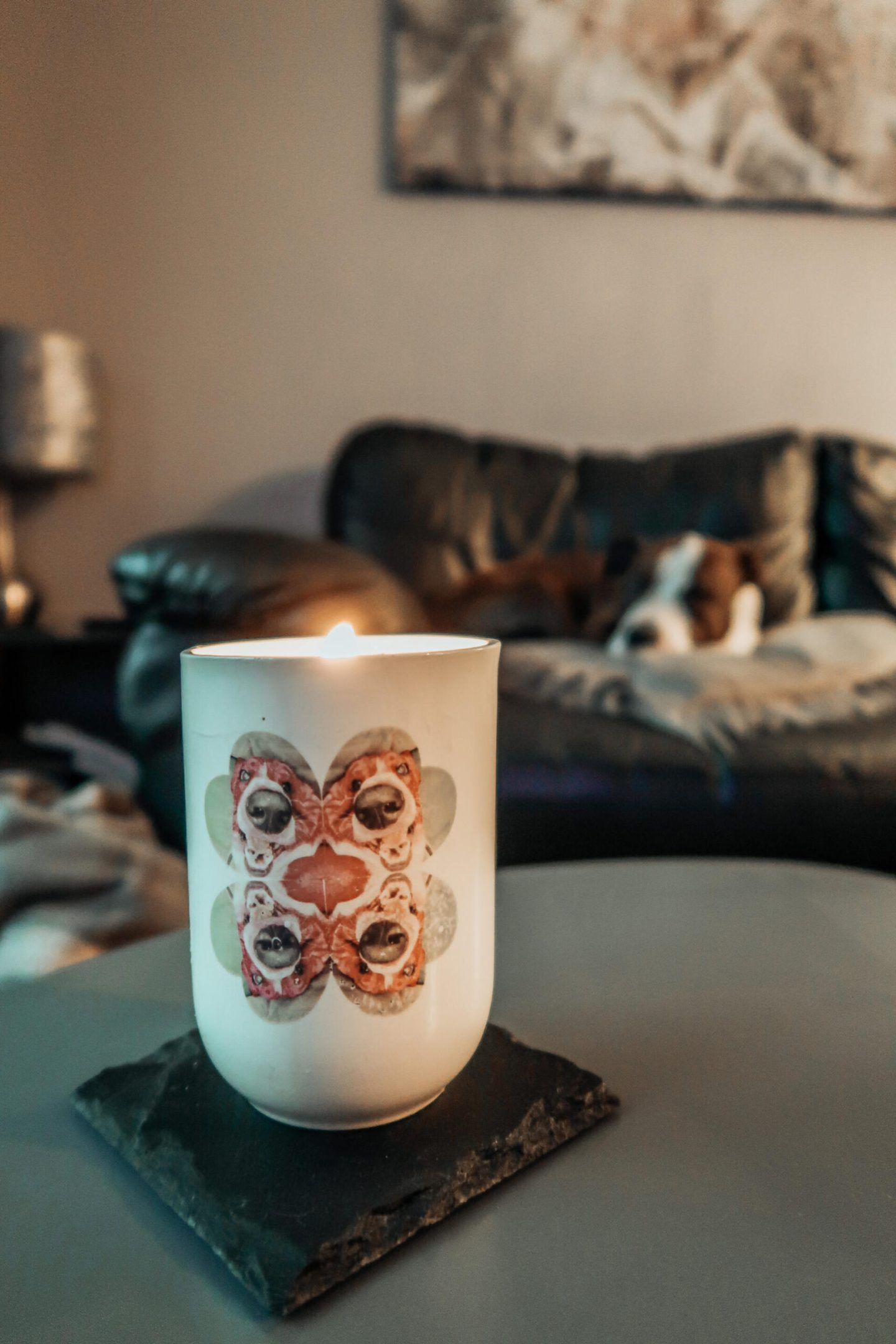 dog calming candle