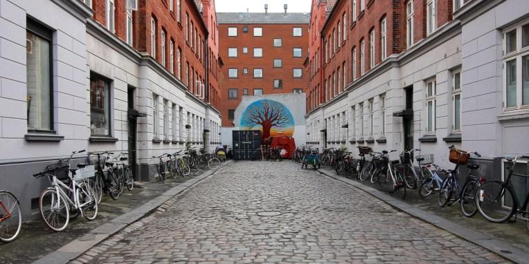 Bikes in the streets of Copenhagen