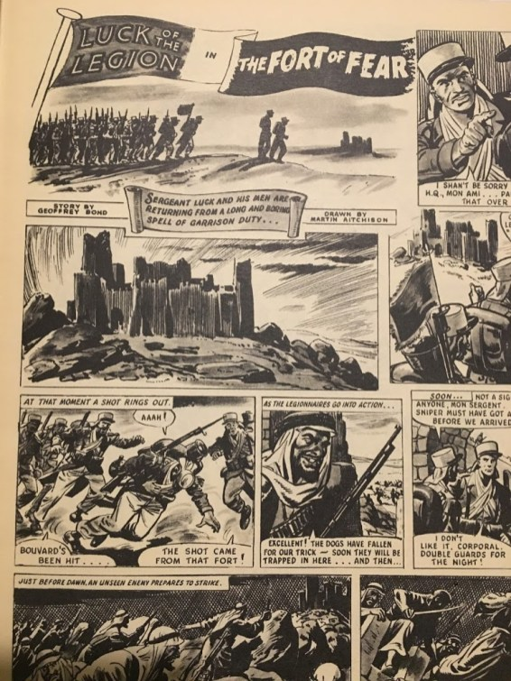 A page from the 'Luck of the Legion' strip